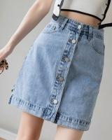 Summer Korean style high waist slim skirt for women
