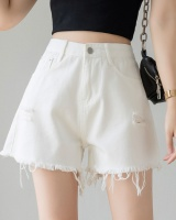 Summer slim spring short jeans black loose shorts for women