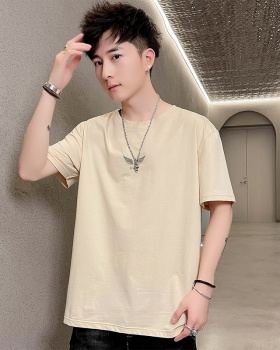 Printing fashion round neck Korean style thin T-shirt