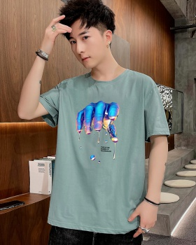 Casual printing thin fashion loose summer T-shirt for men