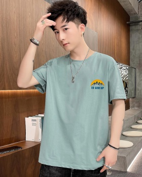 Short sleeve round neck summer T-shirt for men