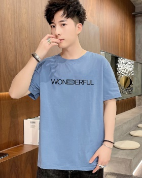 Short sleeve loose round neck thin fashion printing T-shirt
