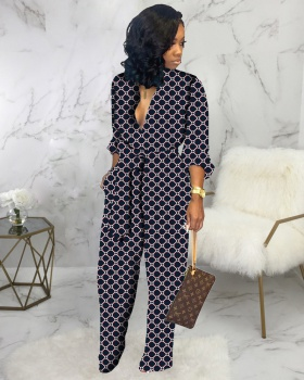 Sexy European style fashion loose jumpsuit for women