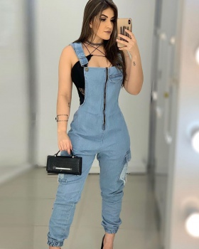 Sexy European style strap fashion slim jumpsuit for women