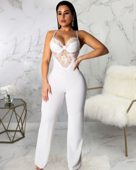 European style fashion slim sling sexy jumpsuit