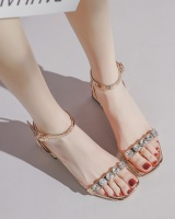 Student thick shoes middle-heel summer sandals for women