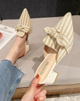 Stripe slippers spring and summer shoes for women